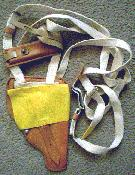 Yellow flap shoulder holster