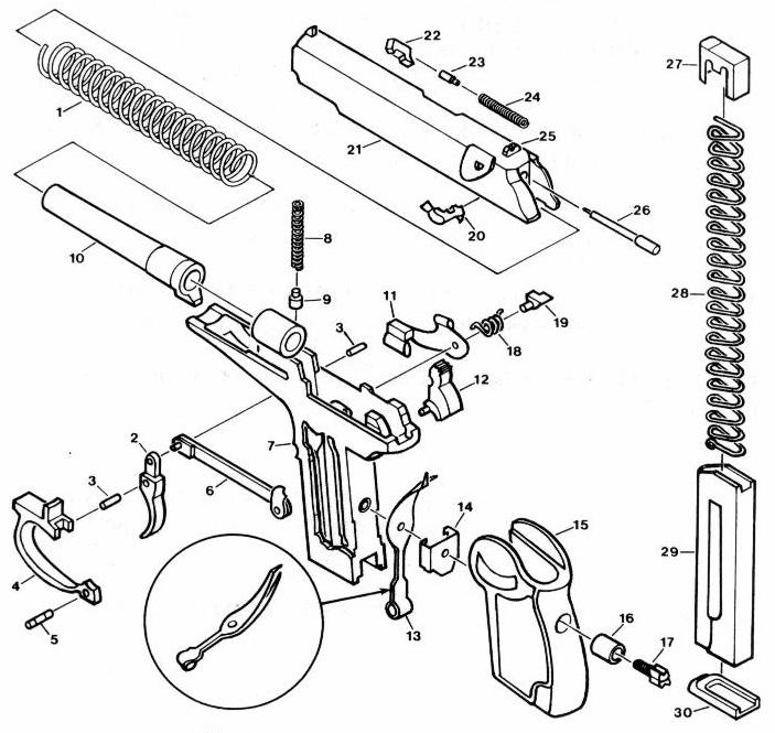 walther pp parts diagram today wiring schematic diagram Walther Trigger Bar Pictures
